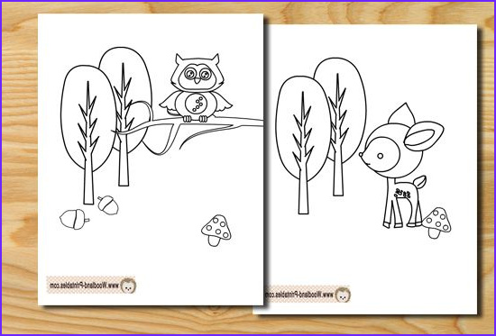 Woodland Animals Coloring Pages Elegant Stock Free Printable Woodland Animals Coloring Pages