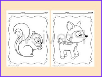 Woodland Animals Coloring Pages Luxury Collection Woodland forest Animals Coloring Pages 8 Designs Fox