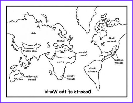 World Biome Map Coloring Worksheet Beautiful Image Deserts Of the World School