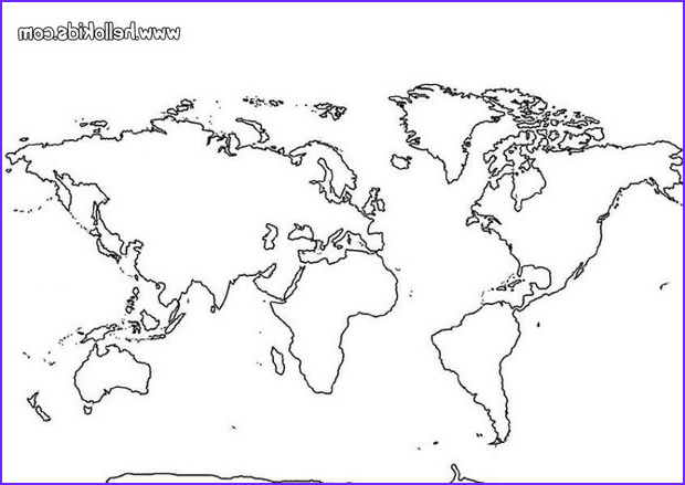 World Map Coloring Page Unique Photography World Map Coloring Pages Hellokids