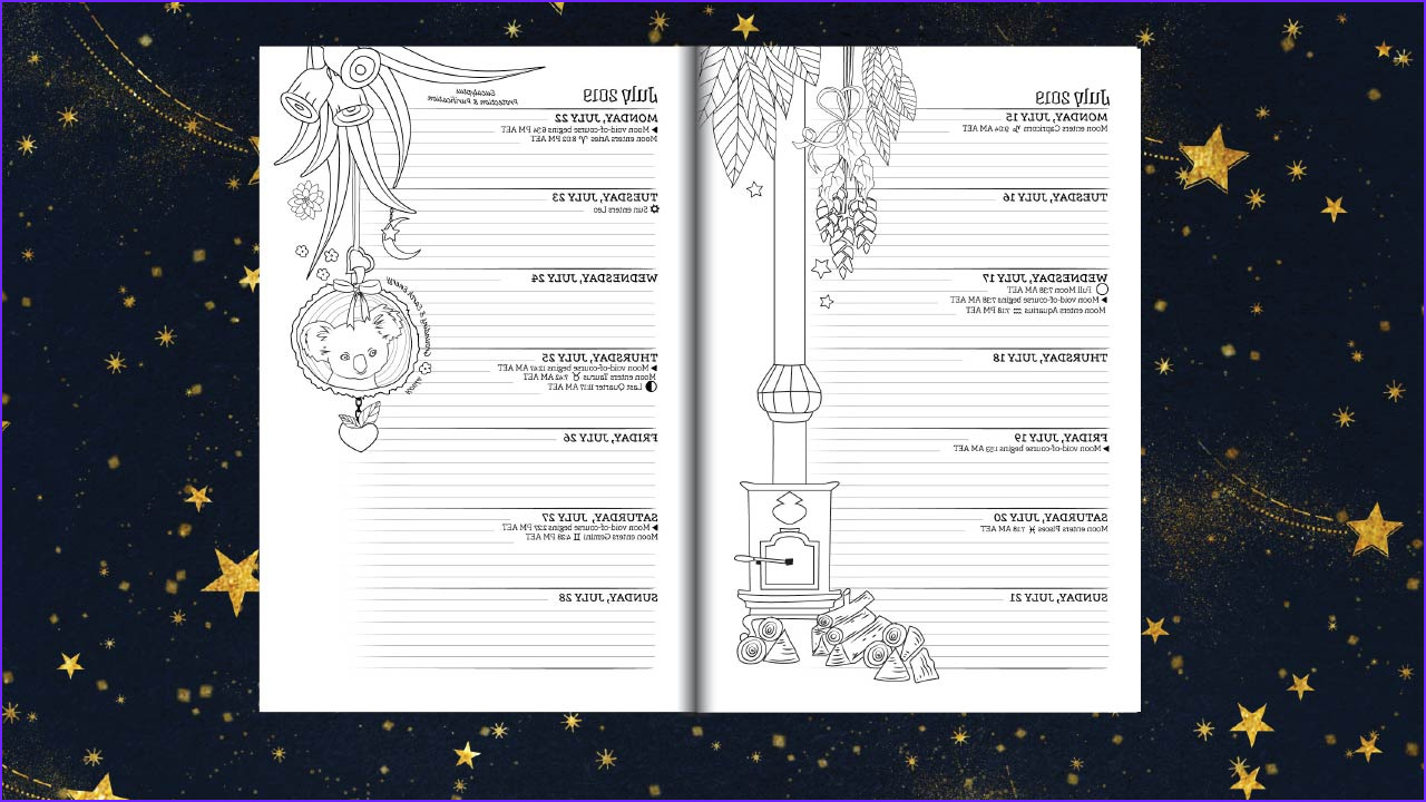 Ww Coloring Com Beautiful Gallery southern Hemisphere Planner for A Magical 2019 Coloring