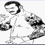 Wwe Coloring Books Awesome Images Wrestling Belt Drawing At Getdrawings