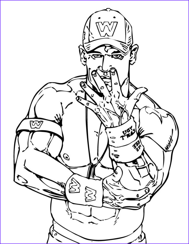Wwe Coloring Books Beautiful Collection Wwe Printable Coloring Pages
