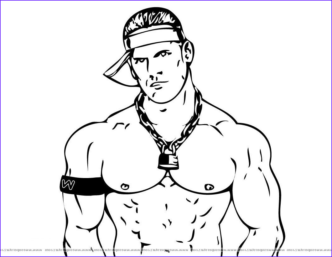 Wwe Coloring Books Beautiful Images John Cena Printable Coloring Pages