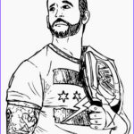 Wwe Coloring Books New Image Wwe Coloring Pages Roman Reigns Coloring Home