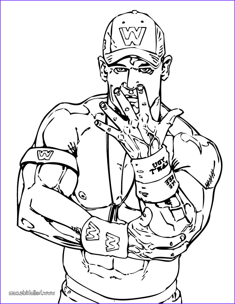 Wwe Coloring Pages Best Of Photos Wrestling Coloring Pages Wrestler John Cena