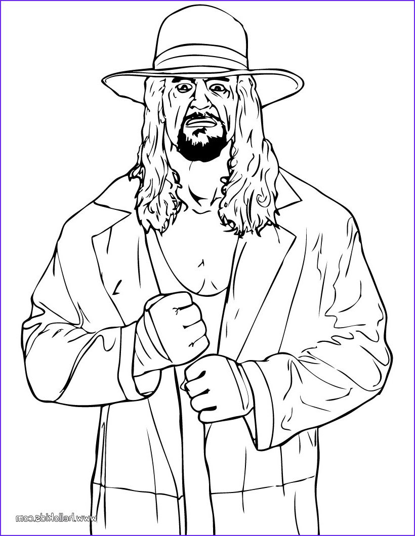 Wwe Coloring Pages Cool Photos Wrestler The Undertaker Coloring Pages Hellokids