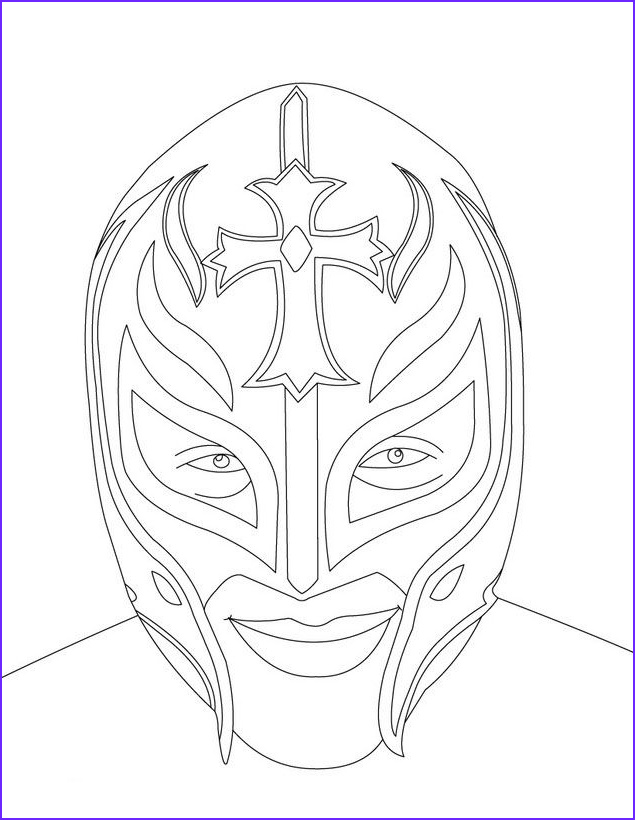 Wwe Coloring Pages Unique Collection Wwe Superstars Colouring Pages Luchador