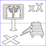 """X Coloring Pages Best Of Images Letter X Coloring Page X Ray Xylophone """"x"""" Marks The"""