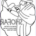 Yom Kippur Coloring Pages Luxury Collection Yom Kippur Shofar Coloring Page