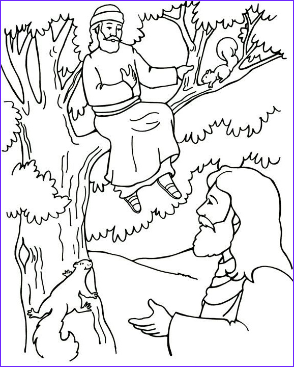 Zaccheaus Coloring Page Best Of Collection Jesus and Zacchaeus