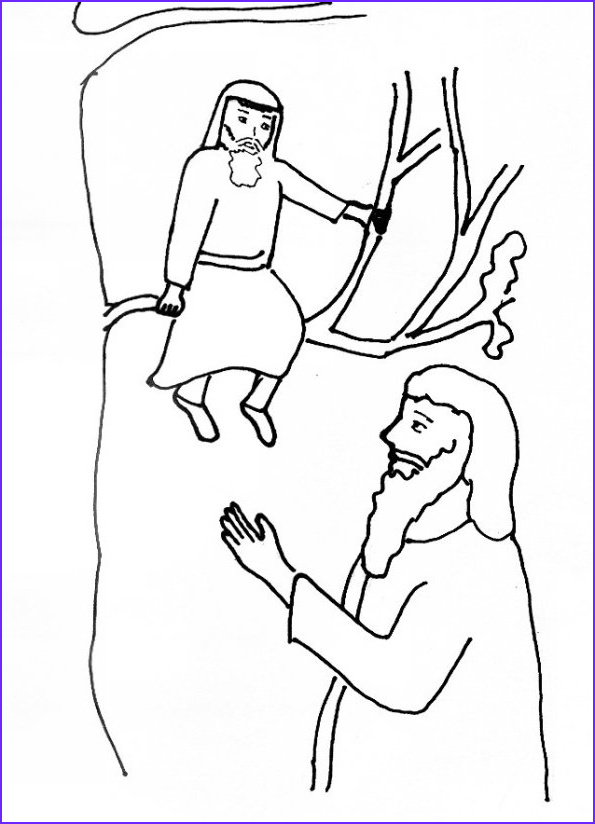 bible story coloring page jesus and zacchaeus