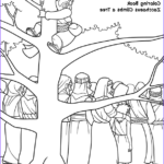 Zaccheaus Coloring Page Elegant Gallery Climbing A Tree Biblerhymes Zacchaeus Bible Story