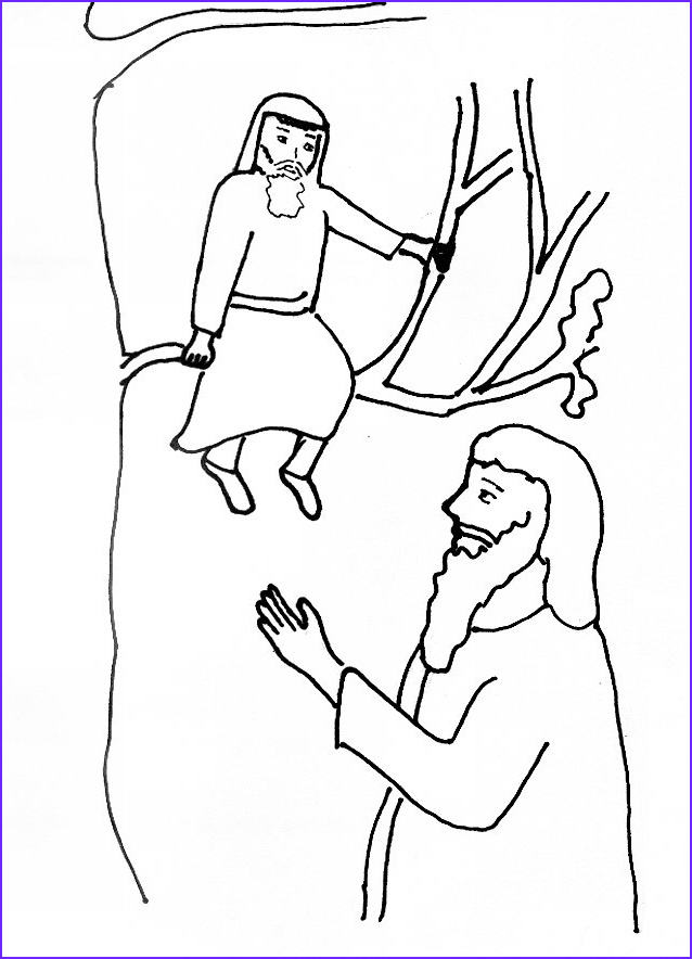 Zaccheaus Coloring Page Inspirational Photos Bible Story Coloring Page Jesus and Zacchaeus