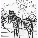 Zebra Coloring Pages Beautiful Collection Zebra Coloring Pages Free Printable Kids Coloring Pages