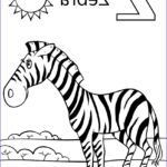 Zebra Coloring Pages Luxury Stock Letter Z Is For Zebra Coloring Page