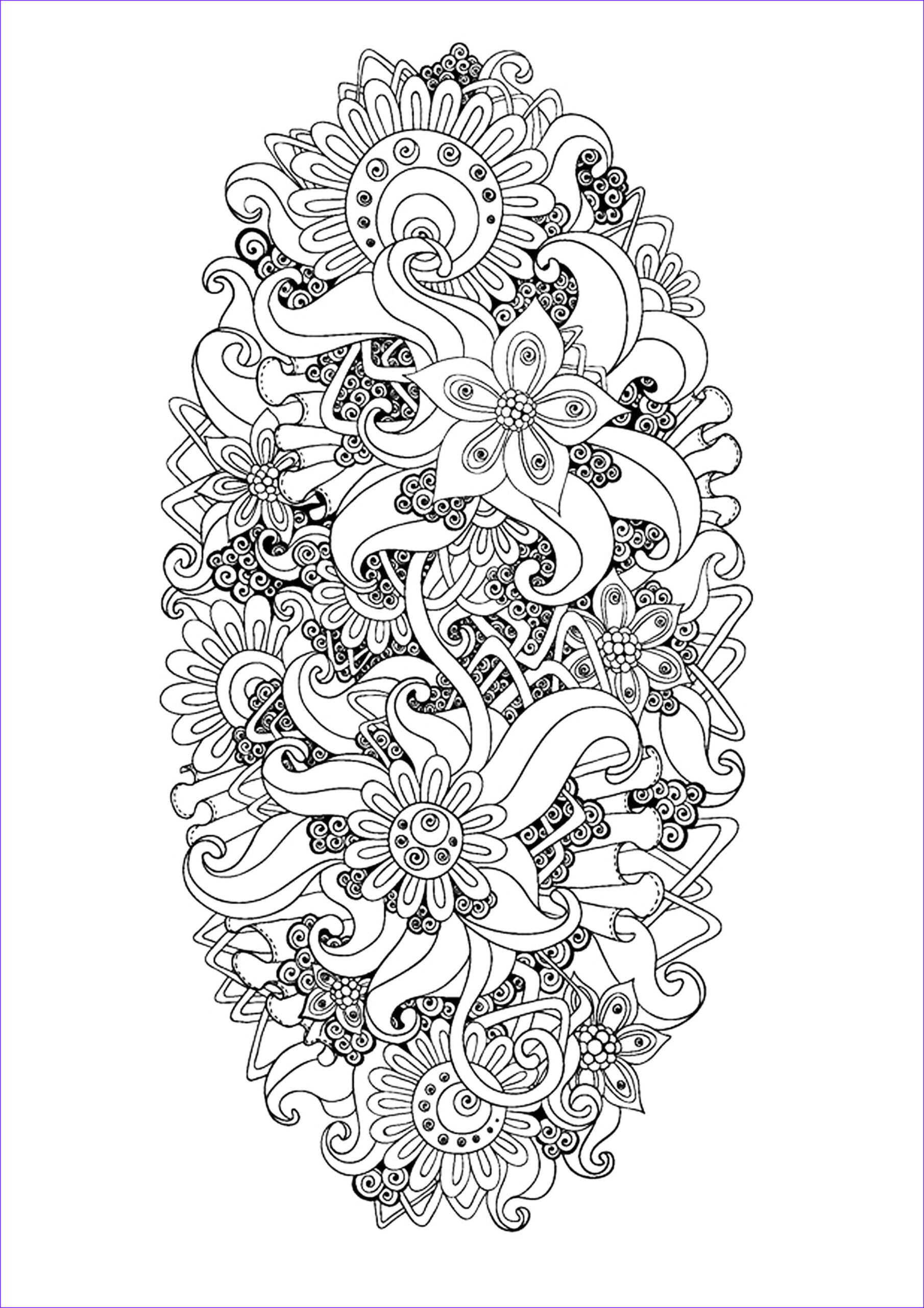 Zen Coloring Beautiful Images Zen & Anti Stress Coloring Page Abstract Pattern