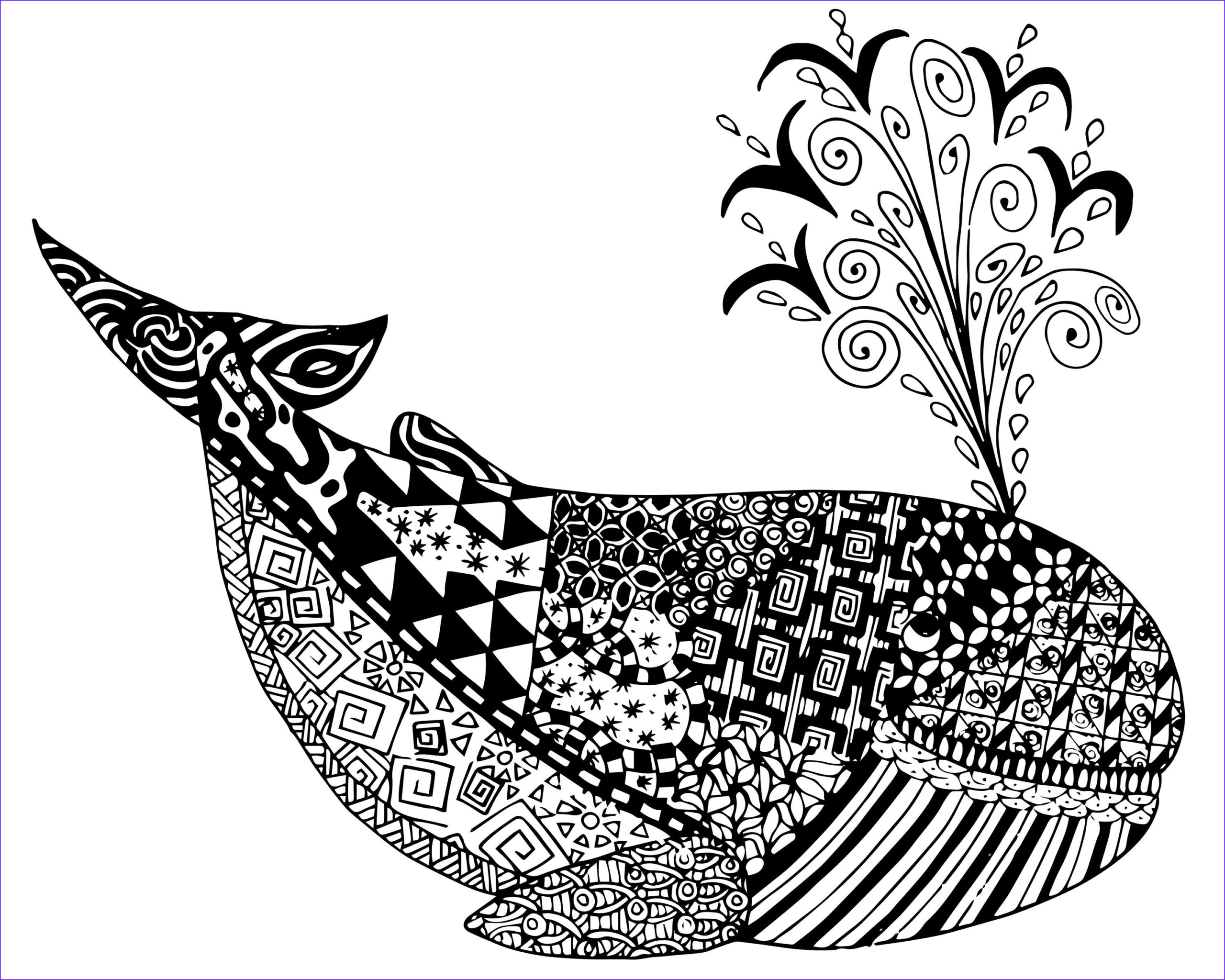 Zen Coloring New Stock Free Whale Zen Tangles Adult Coloring Page