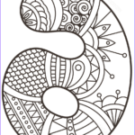 Zentangle Coloring Book Best Of Photography Number 6 Zentangle Coloring Page
