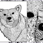 Zentangle Coloring Book Cool Photography Zentangle Bear Coloring Sheet Animal Coloring Zentangle