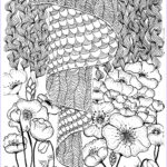 Zentangle Coloring Book Cool Stock Zentangle Coloring Pages Tree Printable