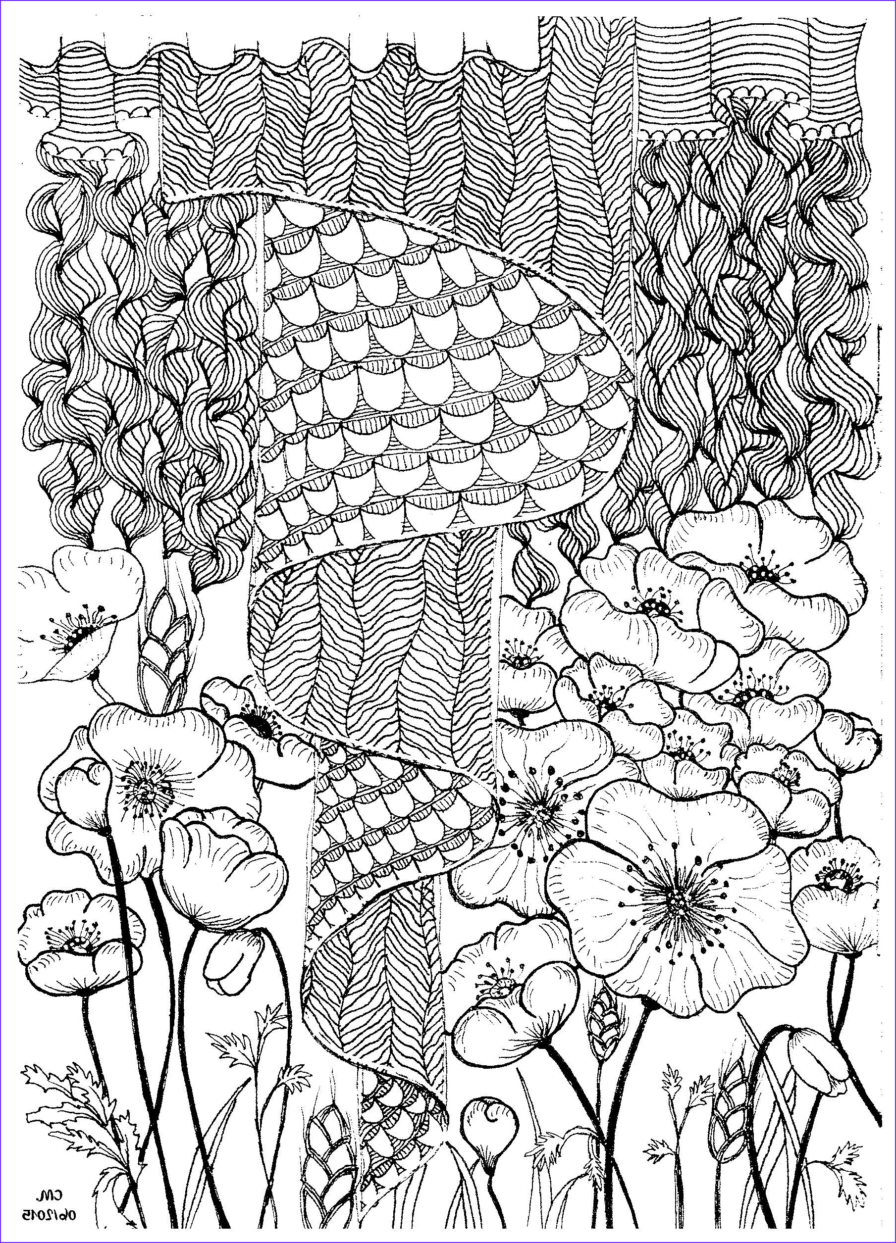 zentangle coloring pages tree