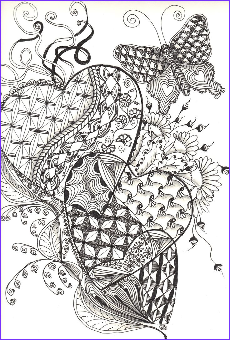 Zentangle Coloring Books Cool Gallery Zentangle Hearts Friday September 21 2012