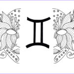 Zodiac Coloring Book Awesome Images Gemini Adult Coloring Page