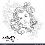 Zodiac Coloring Book Beautiful Stock Zodiac Vector Illustration Of Virgo As Girl With Flowers