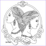 Zodiac Coloring Book Cool Collection Printable Zodiac Coloring Pages