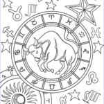 Zodiac Coloring Book Cool Gallery Taurus Zodiac Sign Coloring Page