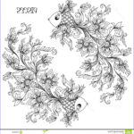 Zodiac Coloring Book Cool Photography Hand Drawn Pattern For Coloring Book Zodiac Pisces Stock