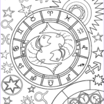 Zodiac Coloring Book Elegant Stock Pisces Zodiac Sign Coloring Page