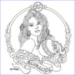 Zodiac Coloring Book Luxury Images Aquarius Zodiac Beauty Colouring Page