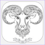 Zodiac Coloring Book Luxury Photography Hand Drawn Pattern For Coloring Book Zodiac Aries Stock