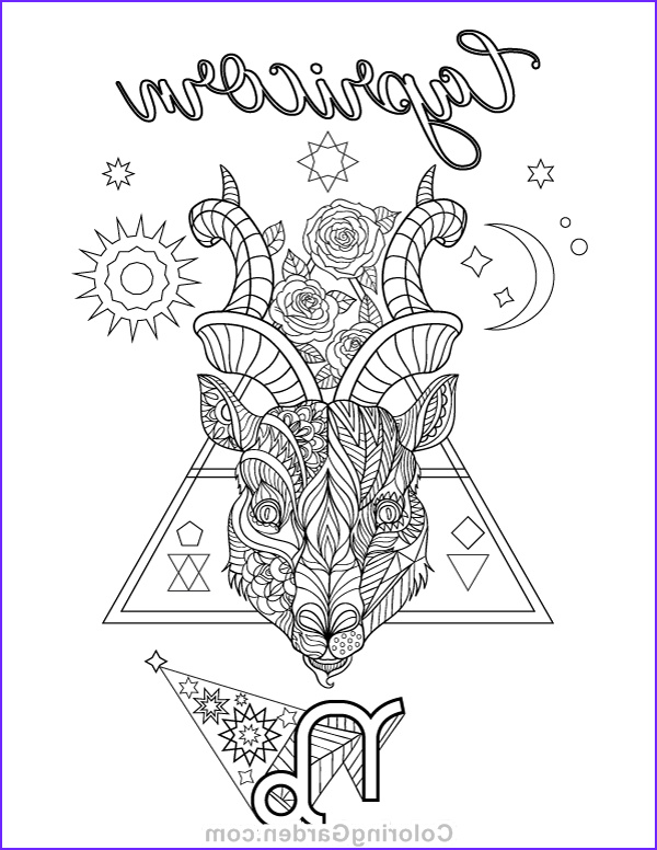 Zodiac Coloring Book New Photos Free Printable Capricorn Zodiac Adult Coloring Page