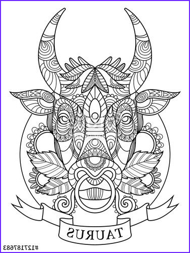 Zodiac Coloring Book New Photos Taurus Zodiac Sign Coloring Page for Adults