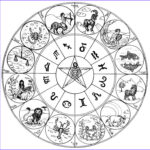 Zodiac Coloring Book Unique Stock Art Therapy Coloring Page Astrology Signs Of Zodiac 15
