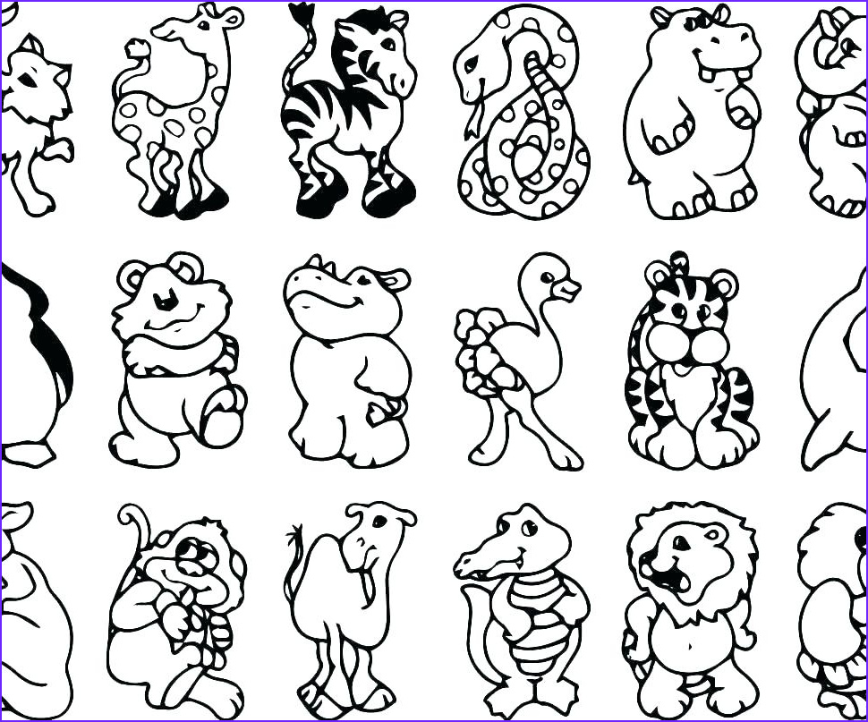 Zoo Animals Coloring Pages New Stock Zoo Animal Coloring Pages for Preschool at Getcolorings