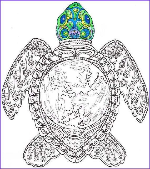 Adult Coloring Book Colored Unique Photos Adult Coloring Page World Turtle Printable Coloring Page