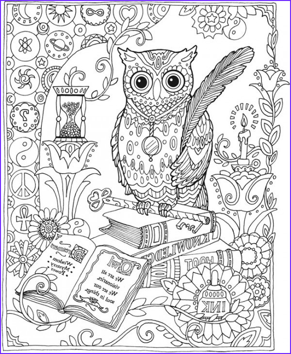 Adult Coloring Page Owls Beautiful Collection Owl Coloring Pages for Adults Free Detailed Owl Coloring