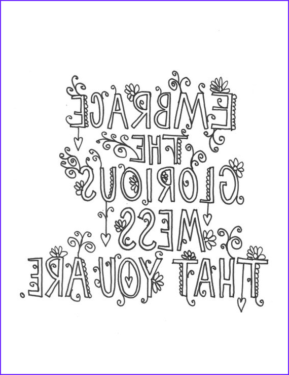 quote coloring page instant