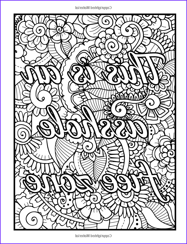 Adult Coloring Page Quote Inspirational Photos Amazon Be F Cking Awesome And Color An Adult