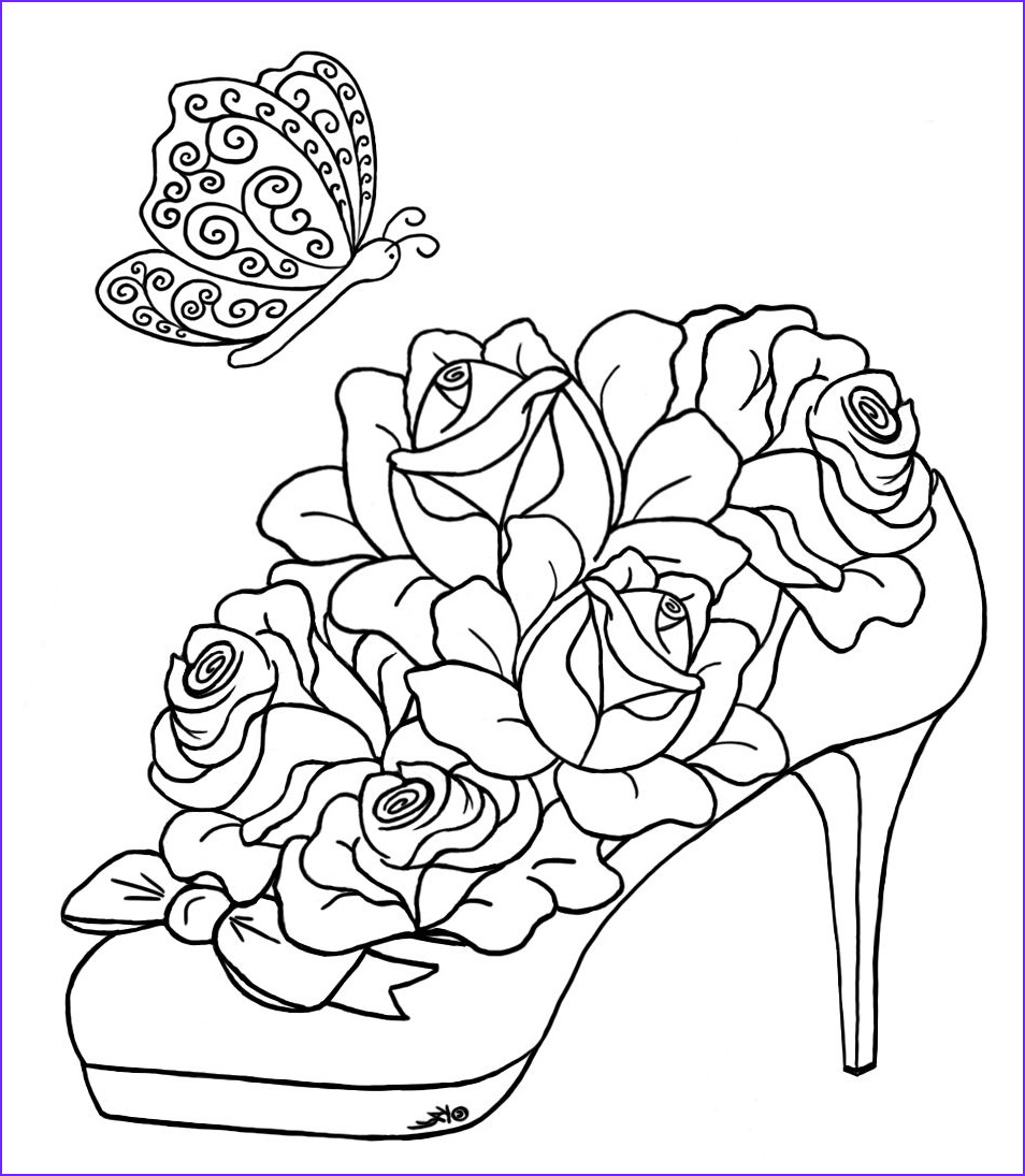 Adult Coloring Page Rose Cool Photos Coloring Pages Hearts And Roses Advanced Coloring Pages