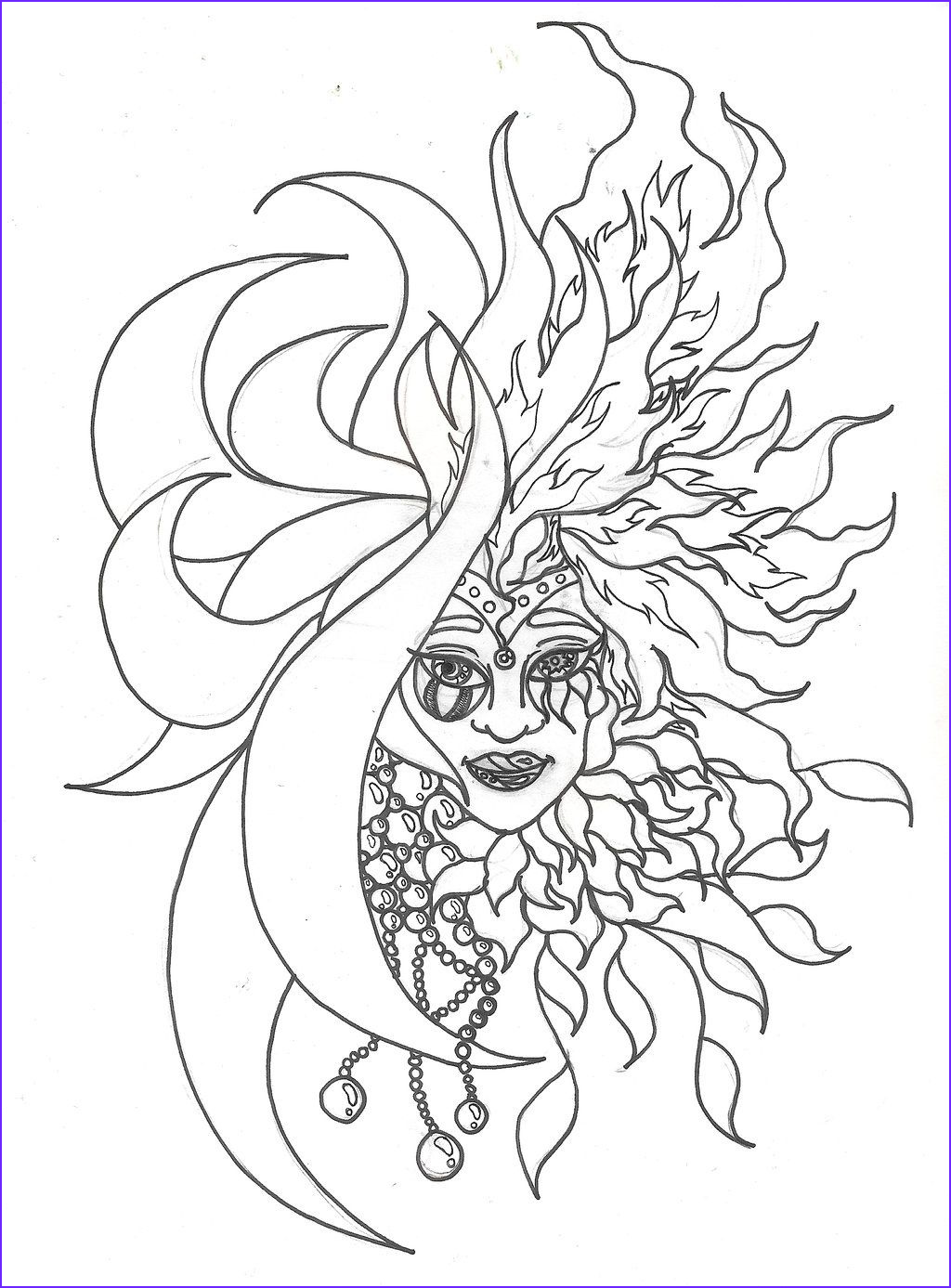 Adult Coloring Page Sun Inspirational Stock Sun and Moon Coloring Page Adult Coloring Pages