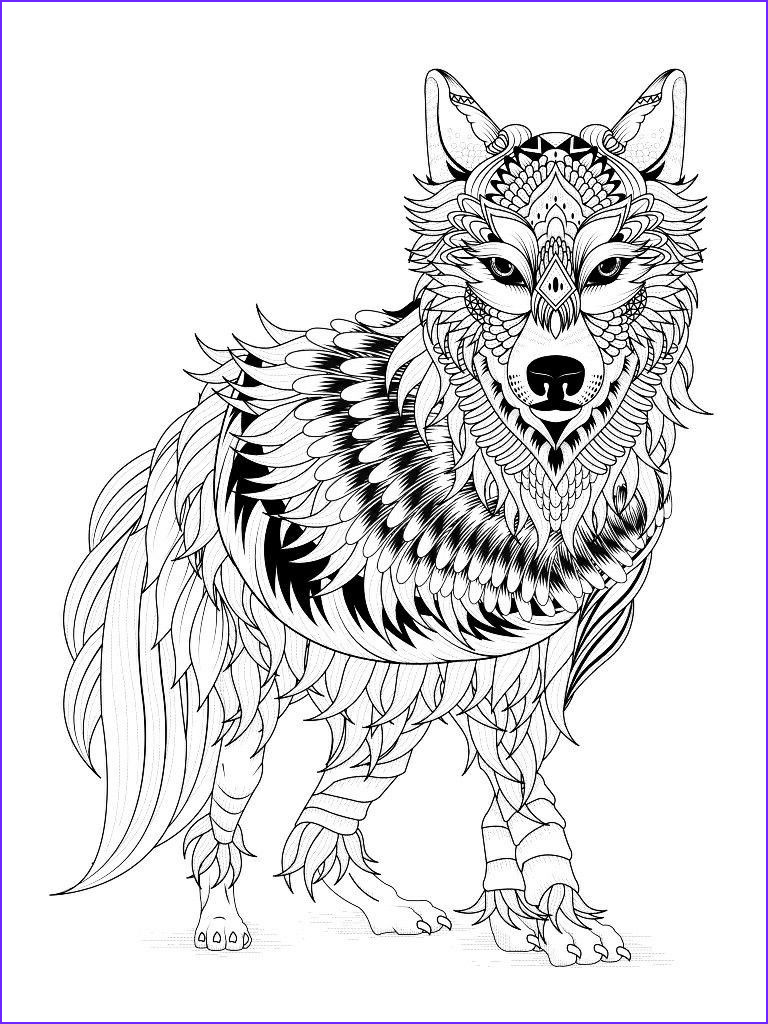 Adult Coloring Wolf Awesome Collection Wolf Coloring Pages Worksheets