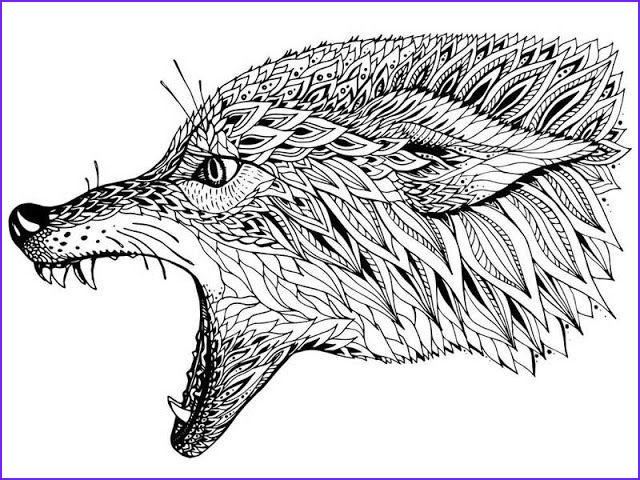 Adult Coloring Wolf Luxury Stock Free Wolves Coloring Pages for Adults