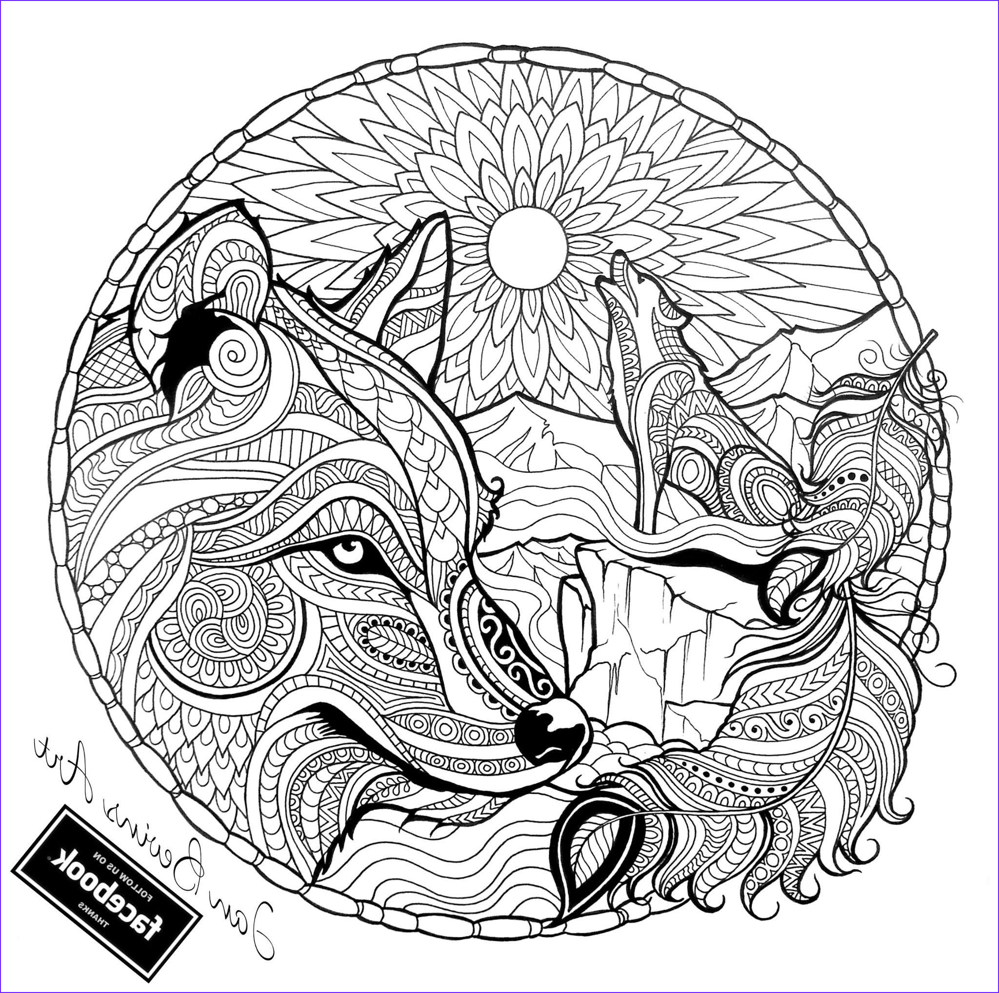 Adult Coloring Wolf New Stock Native Wolf Coloring Activity therapy Pinterest