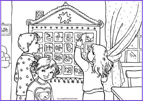 advent calendar colouring page