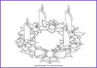 Advent Wreath Coloring Page Awesome Image Christmas Wreath Colouring Pages